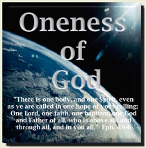 Oneness Of God